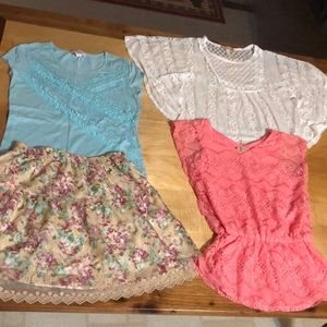 Bundle of tops and skirt